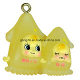 Promocional Animal Shaped Novelty Plastic Keychain para presente
