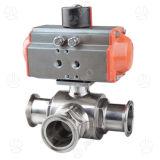 3PCS pneumatique pour le robinet à tournant sphérique inférieur de réservoir