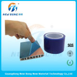 Films auto-adhésifs de polyéthylène bleu de couleur pour les pièces en plastique légères élevées