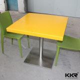 Table de salle à manger en résine rectangulaire pour meubles de restaurant
