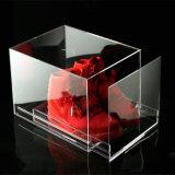 Cadre acrylique empilable de tiroir de mémoire de chaussure de grand transparent