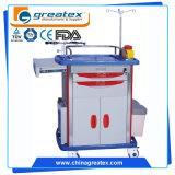 O ruído elétrico do hospital Carts o trole de alumínio médico das gavetas (GT-TA2162A)