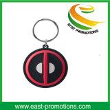 Trousseau de clés en plastique doux de PVC de configuration chaude faite sur commande avec le logo