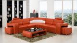 Sofá moderno do couro da forma da mobília U para a sala de visitas Home (HC1072)
