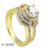 18k goud Geplateerd Zilver 925 van de Ring van Juwelen