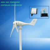 Horizontaler Wind-Generator 300W 12V 24V mit Ladung-Controller und Inverter 1000W