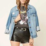 형식 여자 독수리 패턴 붕대 t-셔츠 블라우스