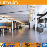 Plancher élevé de vinyle de PVC de centre commercial de résistance à l'usure