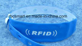 Wristband do PVC RFID/NFC/hospital descartáveis do bracelete um uso do tempo