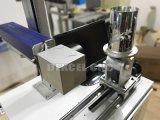 Inscription rotatoire de machine d'inscription de laser de fibre de dispositif de Verticle sur le vase en verre