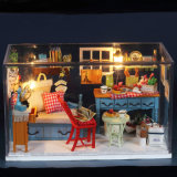 Casa de muñeca europea para el regalo