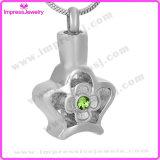 Il Locket delle ceneri ha scavato il pendente del fiore con il cristallo Ijd9684