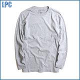 Maglietta poco costosa degli uomini del collo del cotone lungo rotondo su ordinazione del manicotto