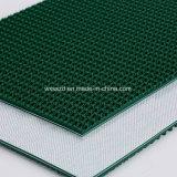 Bande de conveyeur de configuration d'herbe de PVC de vert de surface approximative de qualité