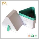 Personalizado Lujo papel hecho a mano caja de regalo con la cinta