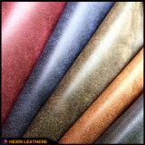 Couro PU sintético para sapatos superior Hw-5212