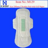 Serviette hygiénique femelle d'anion et garnitures sanitaires de coton