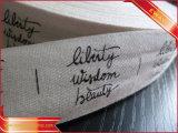 Escritura de la etiqueta de cuidado de la impresión de la escritura de la etiqueta de la impresión que se lava de la escritura de la etiqueta de la escritura de la etiqueta de nylon de la talla
