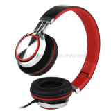 Peso ligero plegable los auriculares estéreos con la cancelación del micrófono y del ruido del control de volumen