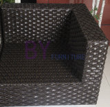 Sofà casuale del rattan del PE della mobilia del giardino domestico