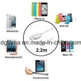 iPhone를 위해 새로운 2.2m iPad4 USB 데이터 Sync 코드 충전기 케이블을%s 5 5s 6 6s