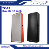 Doppeltes 15 Zoll-Berufslautsprecher-Kasten-Audiogeräte (TK-25)