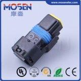 Connettore di plastica di collegamenti di Pin PBT del nero 2 di Fci del cavo automatico elettrico femminile del cablaggio, 211PC022s8049, DJ7024b-1.5-21