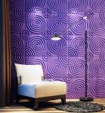 Textured твердая доска стены волны 3D (номер 22)