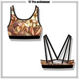 Il disegno che alla moda su ordinazione le tazze smontabili spingono in su mette in mostra il reggiseno di yoga