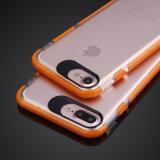 高品質透過PC+TPUはプラスiPhone 6/7のための移動式カバー箱を薄くする