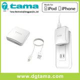 Одиночный кабель заряжателя стены USB квадратный и молнии iPhone 6
