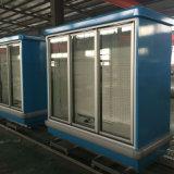 Refrigerador ereto da bebida do refrigerador da porta de 3 vidros