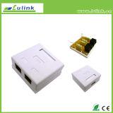 A melhor placa dianteira da caixa CAT6 UTP da superfície da porta do dobro do preço