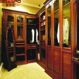 Caminata casera del dormitorio de los muebles en el guardarropa de madera tallado (GSP17-013)