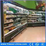 異なった様式のMultideckスーパーマーケットのための開いた冷却装置ショーケースをカスタマイズしなさい