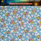 Fleurs monde, impression de transfert sur le tissu de jacquard de Spandex de polyester