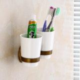 Штуцер ванной комнаты держателей зубной щетки двойника ванны Flg античный латунный
