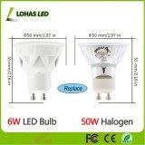 UL de projecteur de Dimmable DEL d'ampoules de GU10 6W DEL indiquée