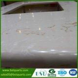 Controsoffitto d'imitazione di marmo artificiale del quarzo venato Gloden per la cucina