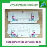 Cadre cosmétique se pliant personnalisé de caisse d'emballage de papier de cil de velours avec le guichet
