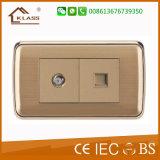 高品質220Vの電力のホーム照明壁スイッチ
