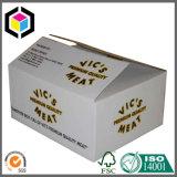 Caixa de transporte do empacotamento de carne do cartão ondulado da cópia do logotipo