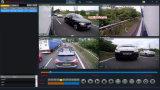 トラックバスタクシーのための720p 4CH車GPS/3G/4G/SIM DVR Mdvr