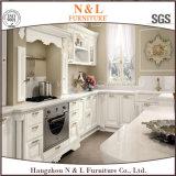 Module de cuisine moderne en bois solide de meubles de maison de type de couleur blanche