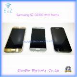 Франтовской сотовый телефон LCD для индикации экрана касания галактики S7 G9300 G930f Samsung с рамкой