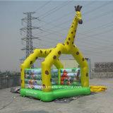 Digital-Drucken-Giraffe-aufblasbares Prahler-Schloss