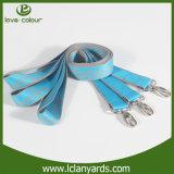 Llavero personalizado lanyards correa hebilla de plástico correa tejida