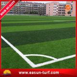 Erba artificiale multicolore su ordinazione economica di gioco del calcio