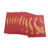Paquete de papel afortunado modificado para requisitos particulares impresión de sellado caliente