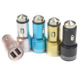 AluminiummetallEmergency Sicherheits-Hammer-Gewehrkugel Doppel-USB-Auto-Aufladeeinheit